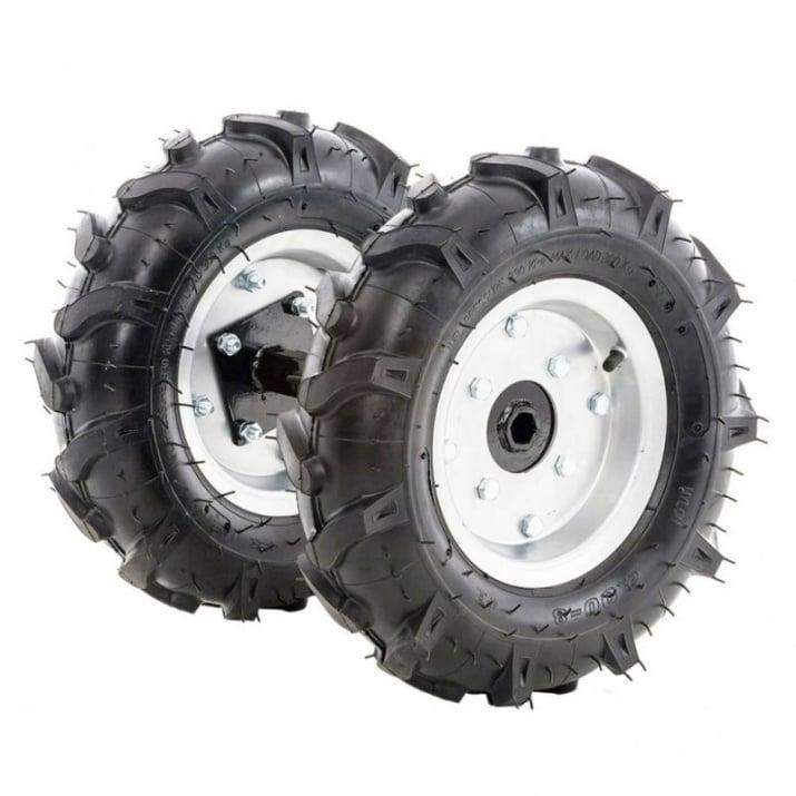 Комплект гумени колела TS 103 400x8 с адаптер Снимка 1